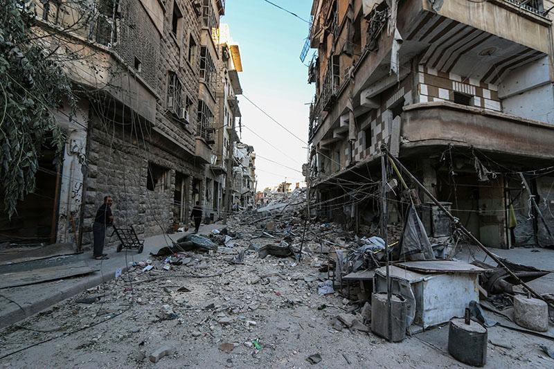 Квартал города Алеппо, Сирия