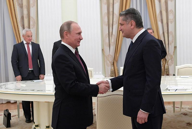 Президент РФ Владимир Путин и председатель Коллегии Евразийской экономической комиссии Тигран Саркисян