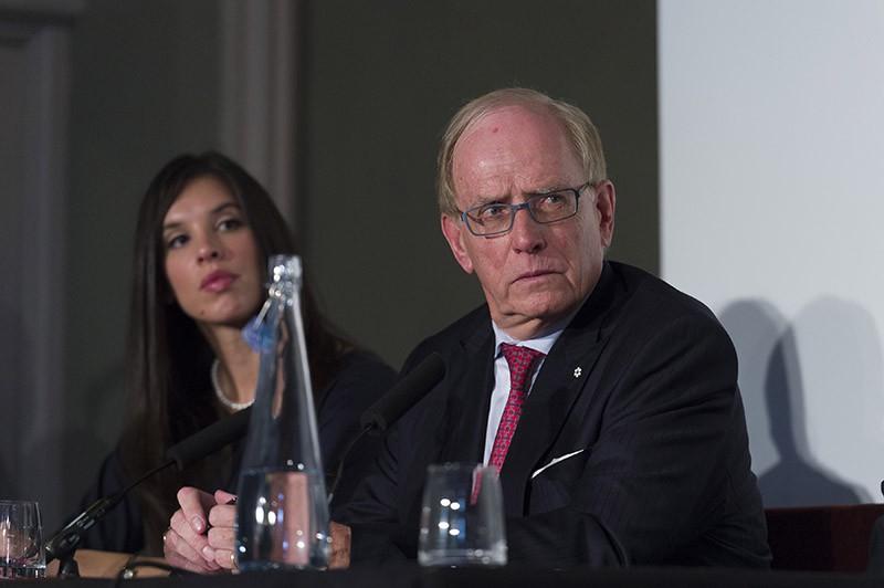 Глава независимой комиссии Всемирного антидопингового агентства (ВАДА) Ричард Макларен во время пресс-конференции