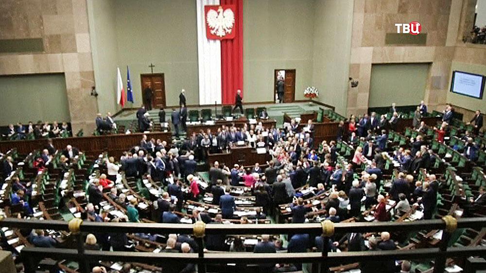 Заседание парламента Польши
