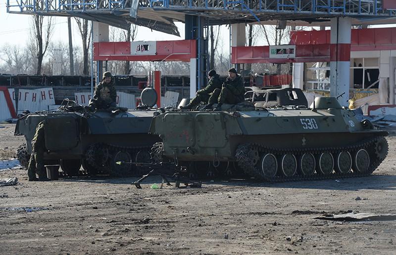 Блокпост в районе города Дебальцево, Украина