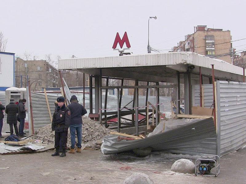 """Последствия взрыва газа у станции метро """"Коломенская"""""""
