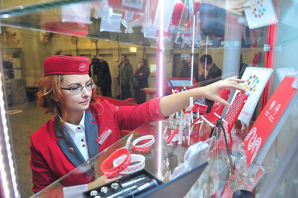 Продажа сувениров в московском метро