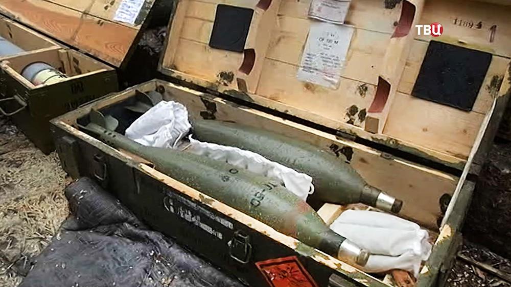 Брошенные боеприпасы в Сирии
