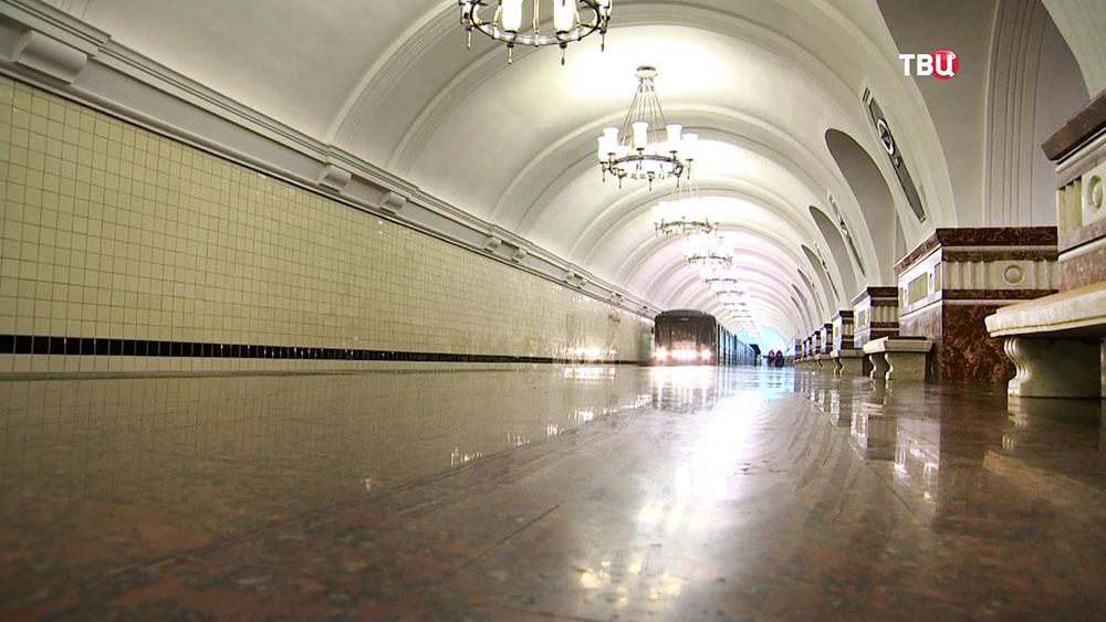 """Светильники на станции метро """"Фрунзенская"""""""