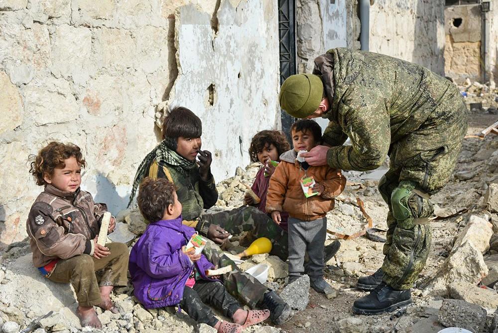 Российские военнослужащие в Сирии