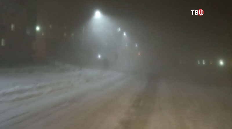 Снегопад на Чукотке