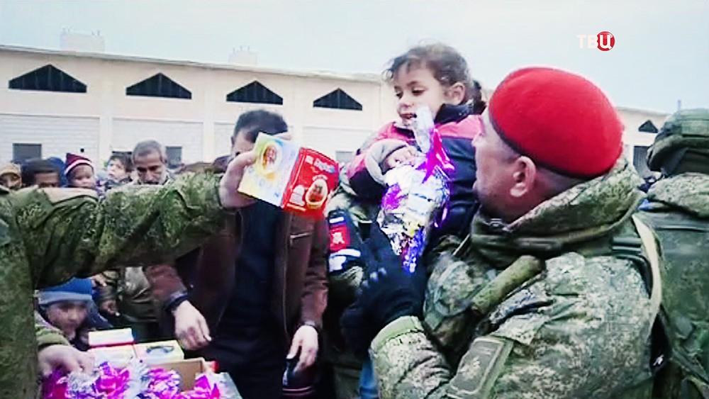 Подарки для детей Сирии