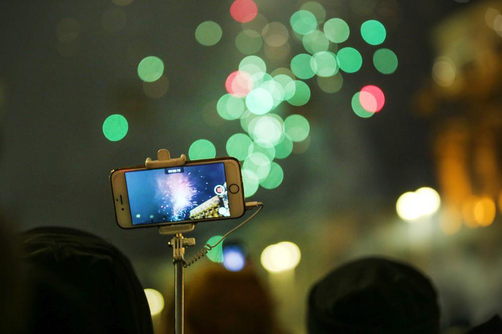 Празднование Нового года в Москве