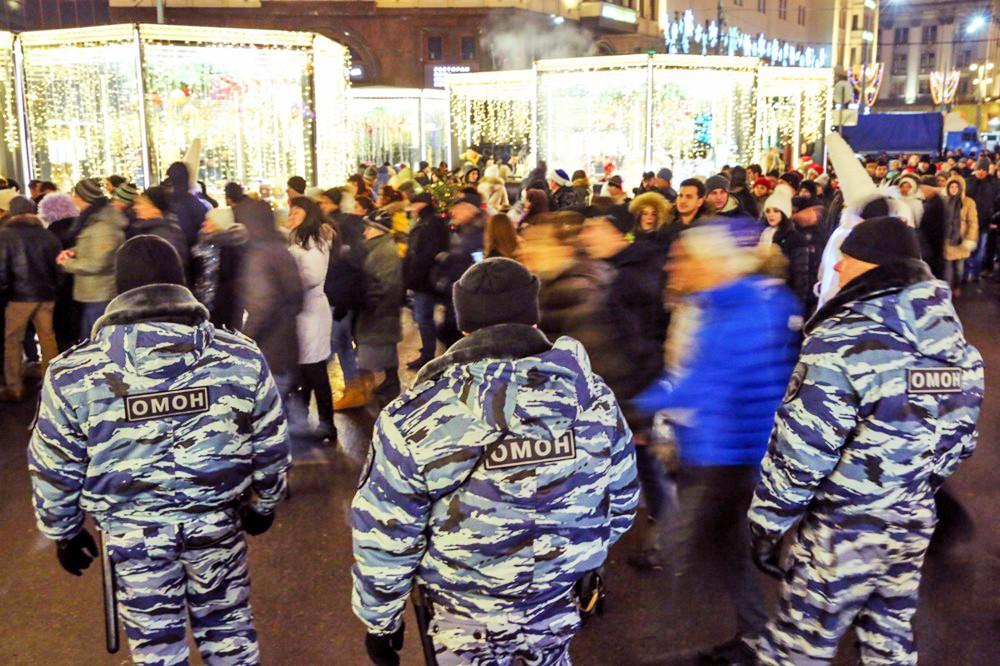 Работа полиции в дни новогодних праздников