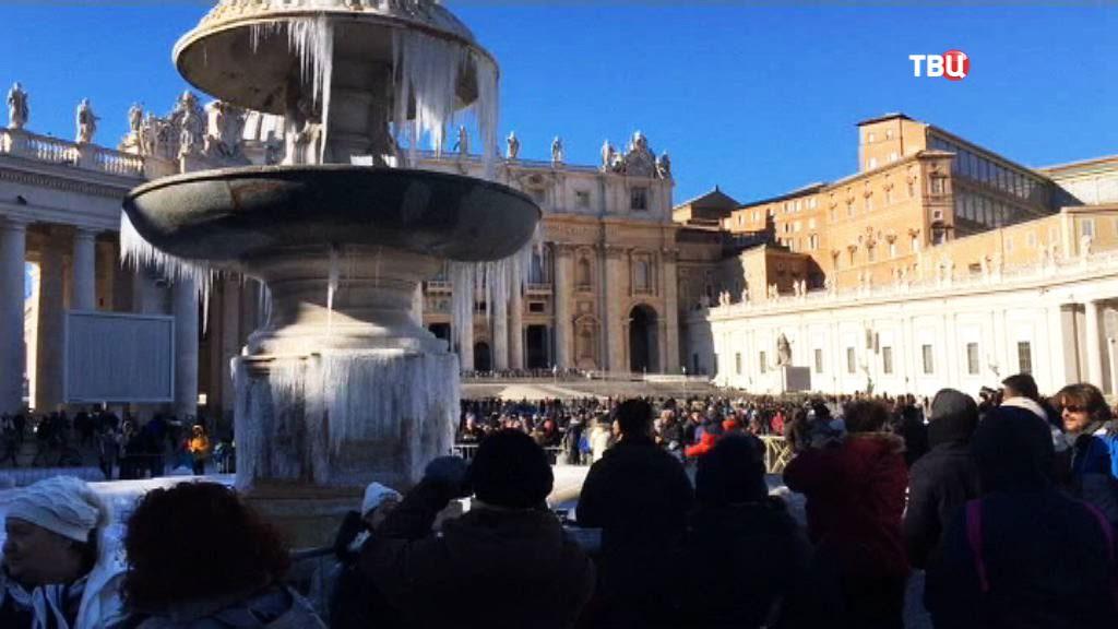 Морозная погода в Ватикане