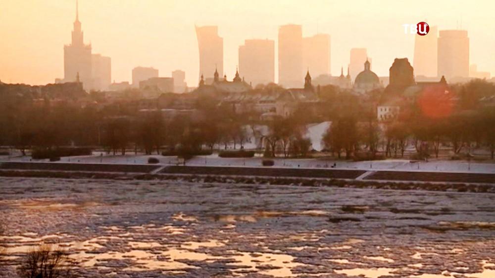 Аномальные морозы в Польше