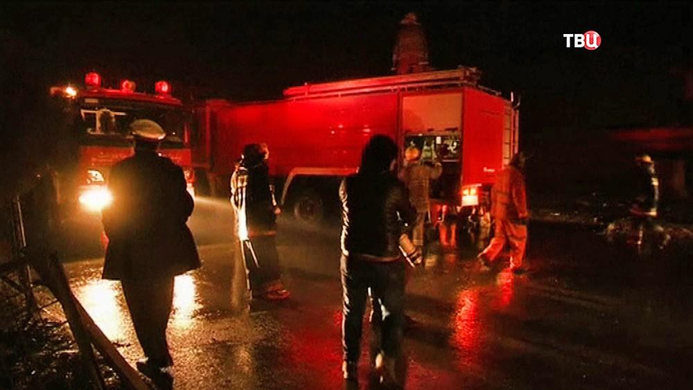 Пожарные Афганистана на месте происшествия