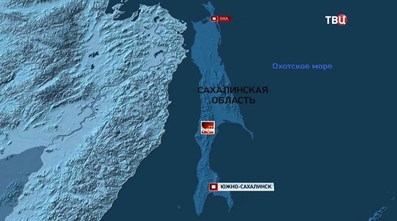 Карта Сахалина