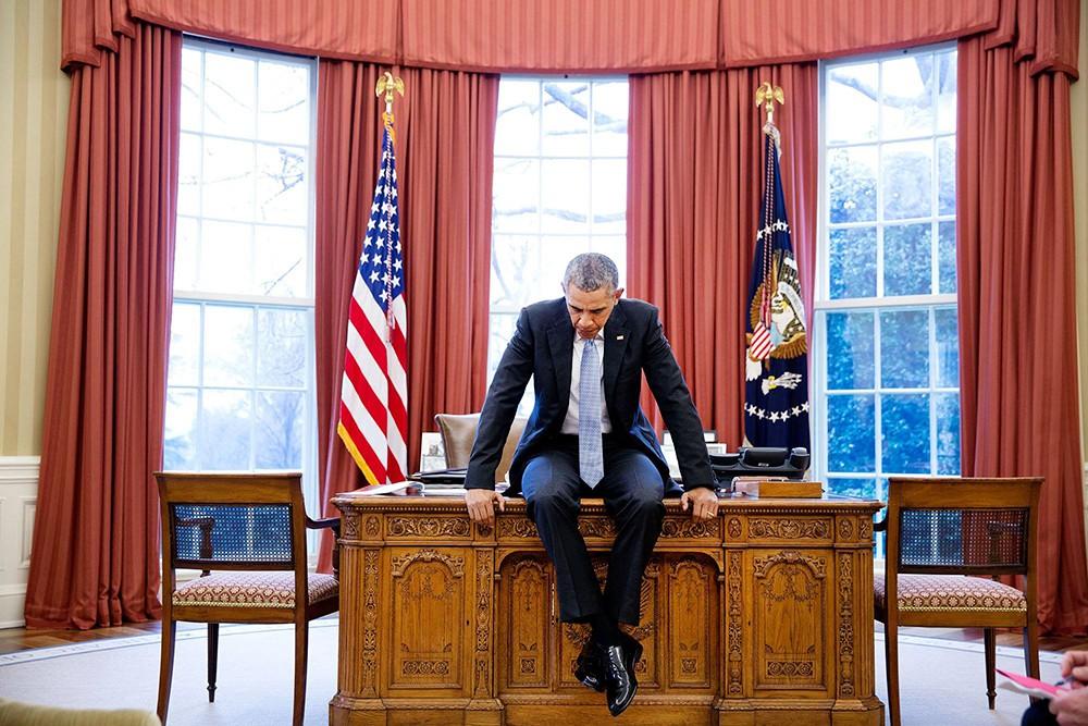 Барак Обама в Белом доме