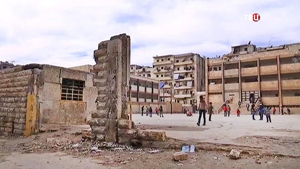 Здание школы в Сирии