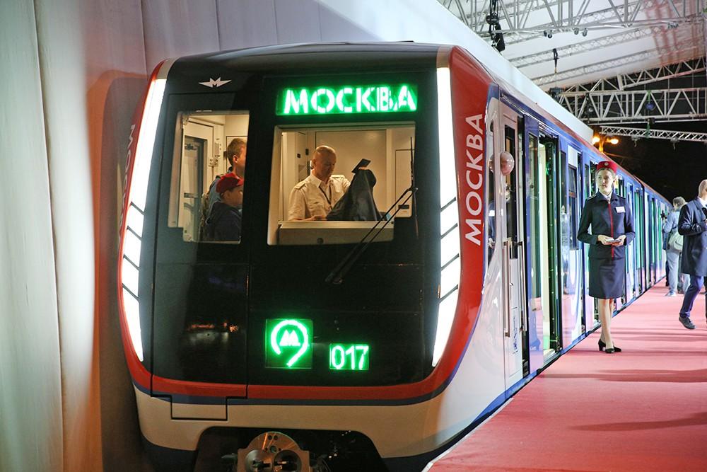 """Новый поезд столичного метро """"Москва"""""""