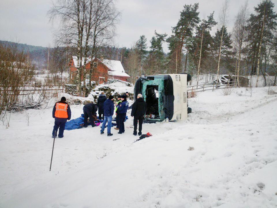 ДТП с участием автобуса в Карелии