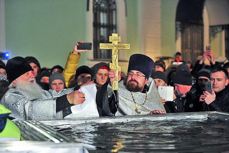 Празднование Крещения Господня в Москве