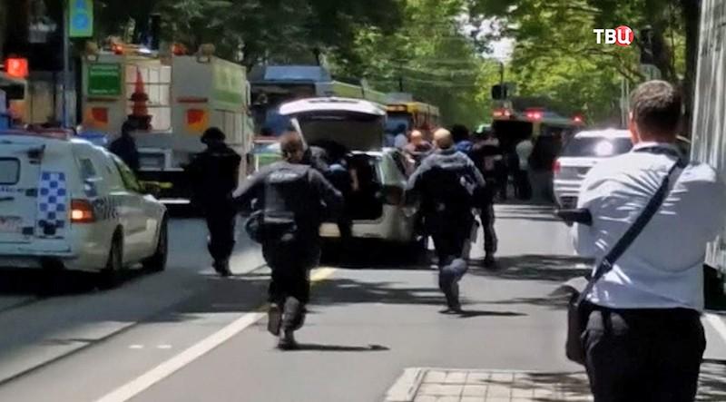 Полиция на месте стрельбы в Мельбурне