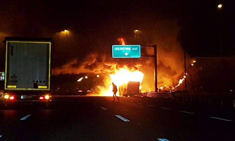 Возгорание автобуса в Италии