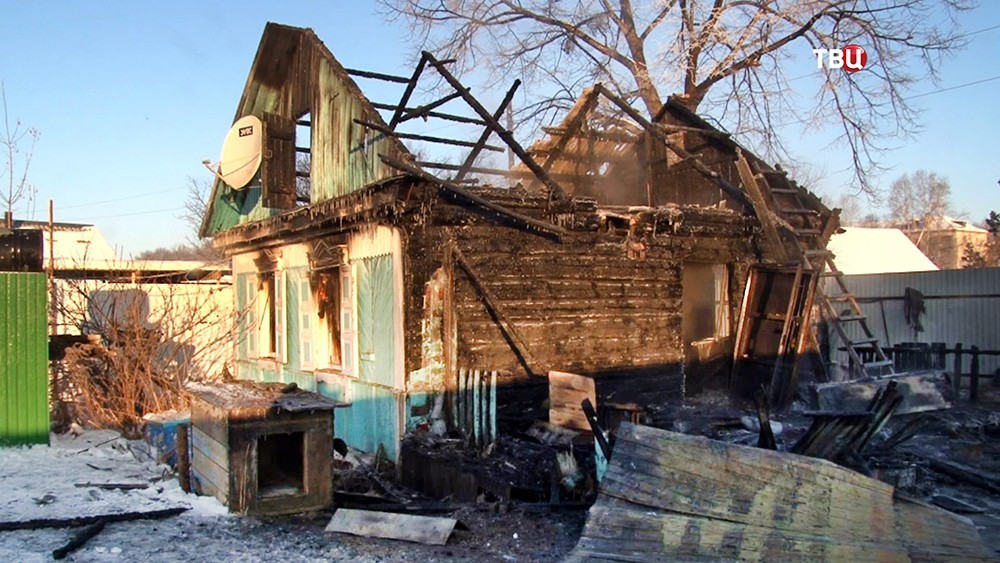 Место убийства семьи в Хабаровске