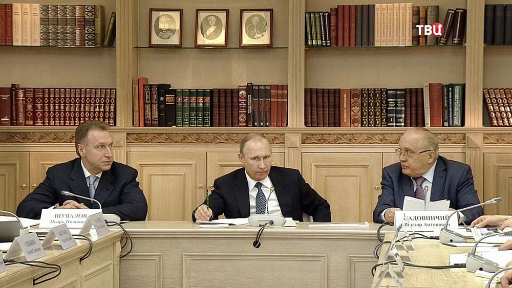 Игорь Шувалов, Владимир Путин и Виктор Садовничий