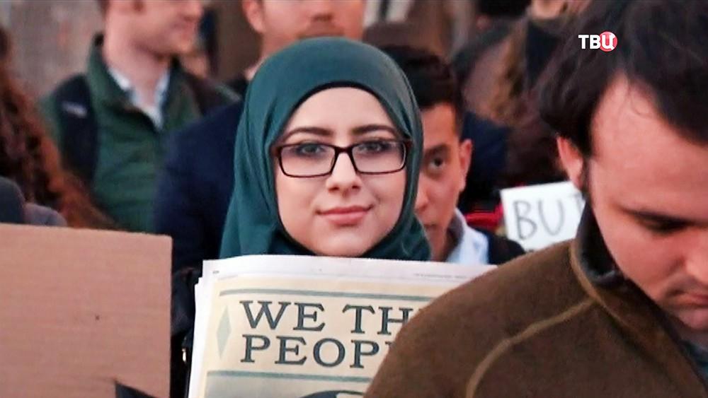 Митинг мусульман