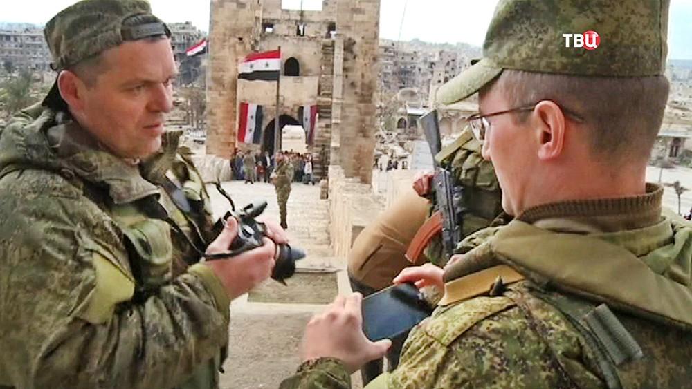 Российские военные посетили Цитадель Алеппо