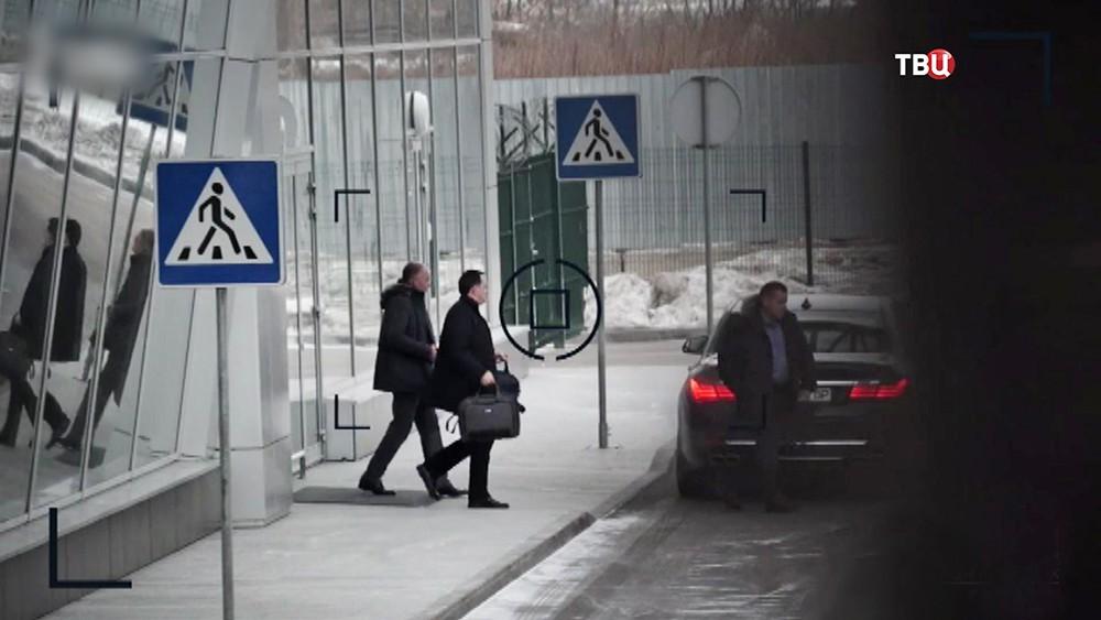 Украинские делегаты в аэропорту