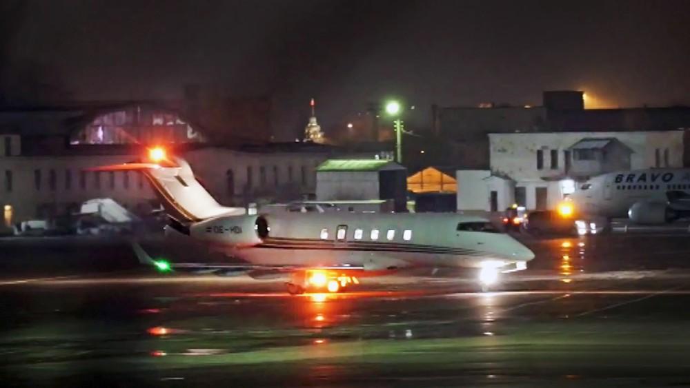 Чартерный самолет украинской делегации