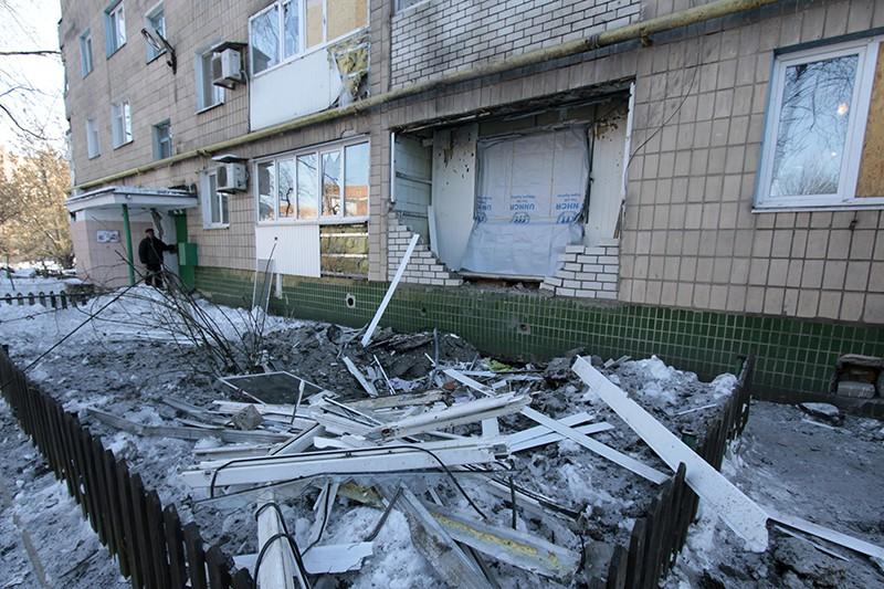 Результат обстрела города Донецка