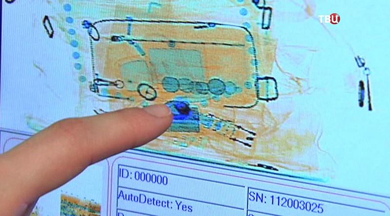 Сканер вещей в аэропорту
