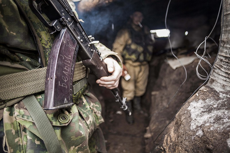 Позиция ополчения. Донецкая область, Украина