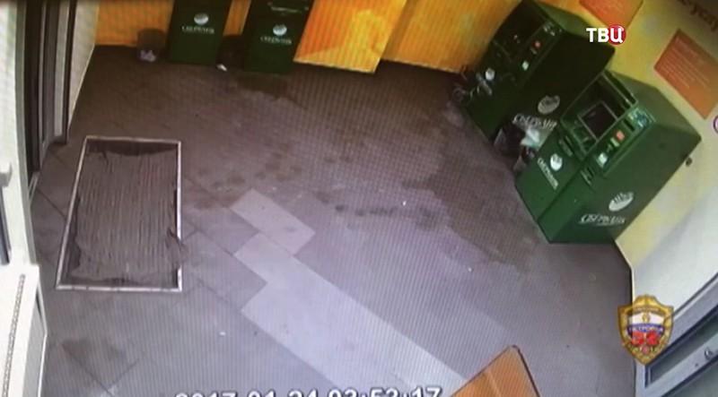 Взлом банкомата в Москве