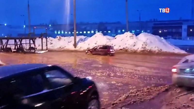 Прорыв трубы в Ижевске