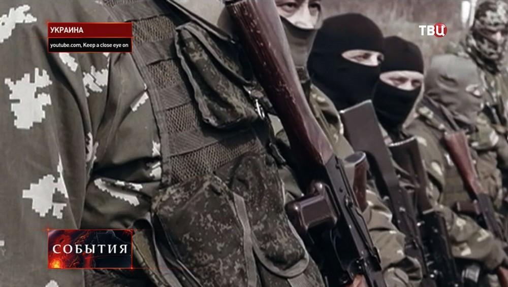 """Кадр из фильма """"Фронтовой город Донецк"""""""