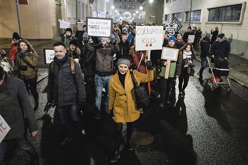 Акция протеста в Румынии
