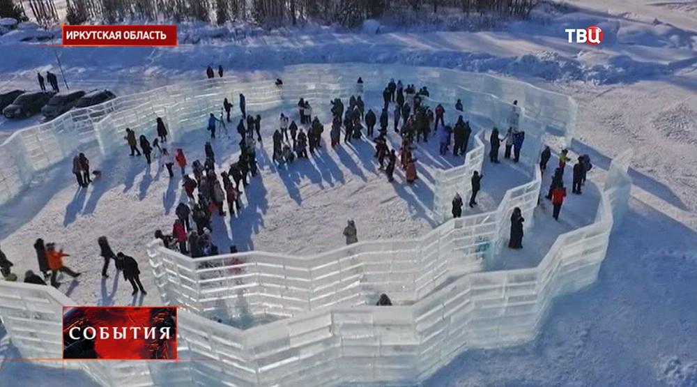 Ледяная библиотека в Иркутской области