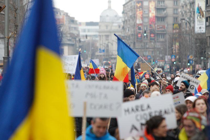 Акции протеста в Румынии