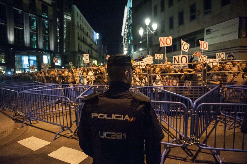 Протестующие в Испании