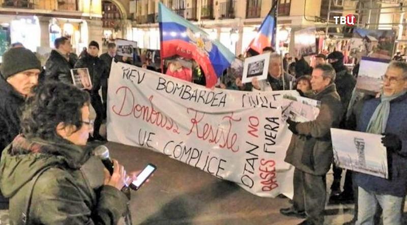 Акции протеста в Мадриде