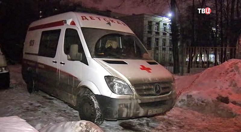 Скорая помощь на месте пожара в Москве