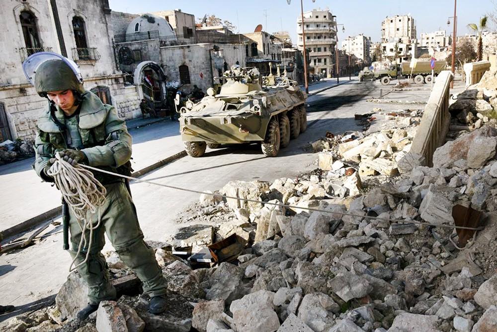 Работа саперов в Сирии