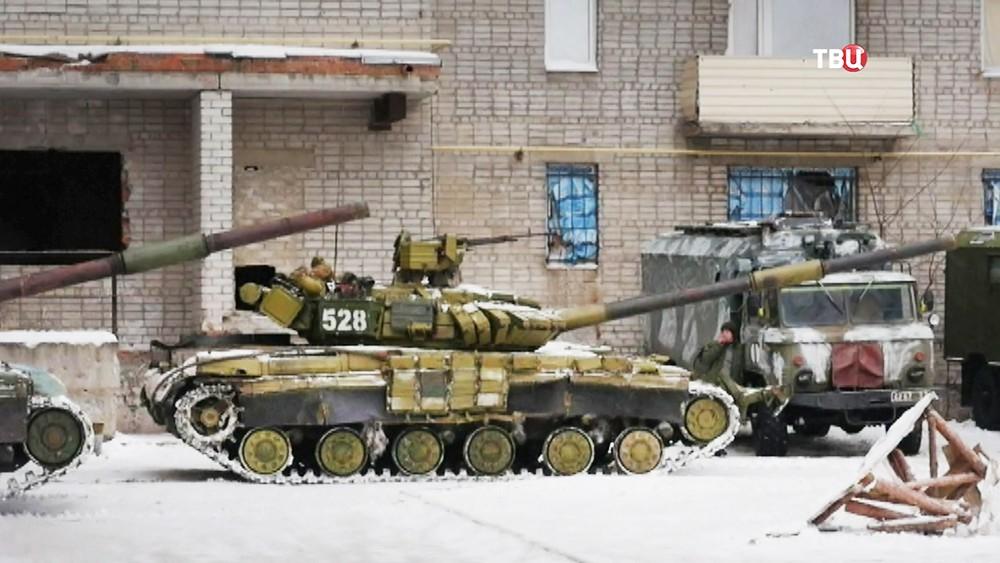 Танки украинской армии в Донбассе