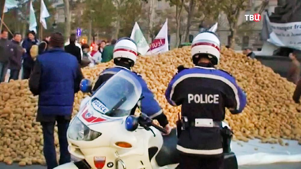 Митинг фермеров в Европе