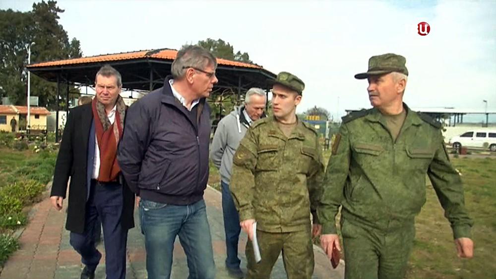 "Бельгийские депутаты на авиабазе ""Хмеймим"""