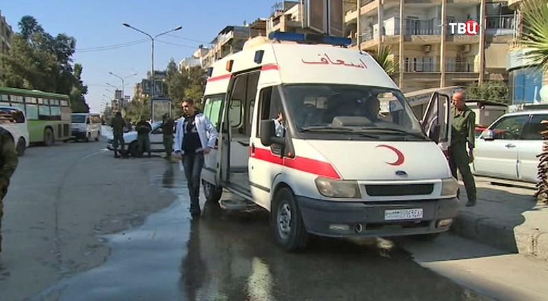 Сотрудники Красного Полумесяца в Алеппо