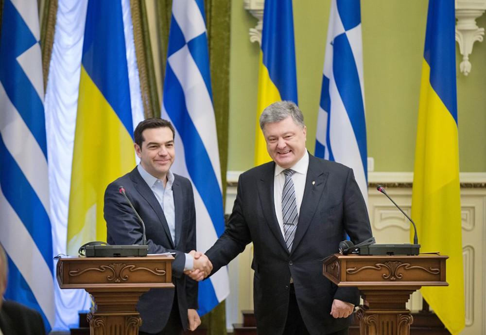 Алексис Ципрас и Петр Порошенко