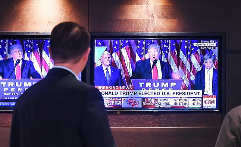 Дональд Трамп по телевизору